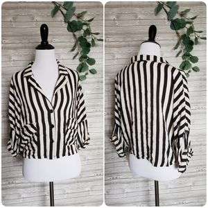4 for $25 button down striped top